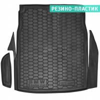 Коврик в багажник для BMW 5 E60 '03-10 седан, резино-пластиковый (AVTO-Gumm)