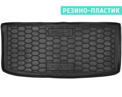 Коврик в багажник для Kia Picanto '17- верхний, резино-пластиковый (AVTO-Gumm)