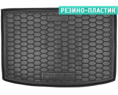 Коврик в багажник для Mercedes A-Class W169 '04-11 резино-пластиковый (AVTO-Gumm)