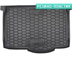 Коврик в багажник для Opel Corsa D '06-14, нижний резино-пластиковый (AVTO-Gumm)