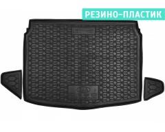 Коврик в багажник для Kia Ceed '19-, хетчбэк, нижняя полка, резино-пластиковый (AVTO-Gumm)