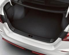 Фото 3 - Коврик в багажник для Audi A4 (B7) '00-08 седан текстильный, черный (Optimal)