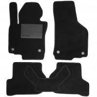 Коврики в салон для Skoda Octavia A5 05-13, текстильные черные (Optimal)