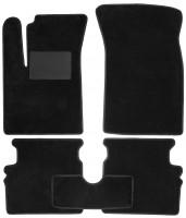 Коврики в салон для Chevrolet Aveo '04-11, текстильные, черные (Optimal)
