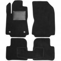 Коврики в салон для Citroen C3 2017-, текстильные, черные (Optimal)