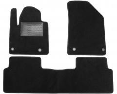 Коврики в салон для Citroen C5 '08-, текстильные, черные (Optimal)