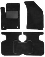 Коврики в салон для Fiat Freemont '11-16, текстильные, черные (Optimal)