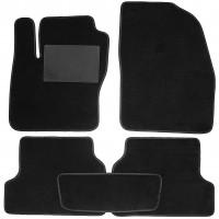 Коврики в салон для Ford Focus II '04-11, текстильные, черные (Optimal)