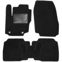 Коврики в салон для Ford Mondeo '07-14 (овальные клипсы), текстильные, черные (Optimal)