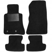 Коврики в салон для Ford Mustang '15-, текстильные, черные (Optimal)