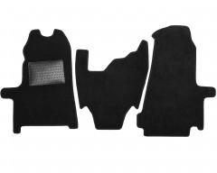 Коврики в салон передние для Ford Transit '06-13, текстильные, черные (Optimal)