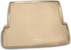 Коврик в багажник для Toyota LC Prado 150 '10- (7мест, длинный), полиуретановый (Novline / Element) бежевый