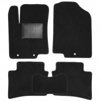 Коврики в салон для Hyundai Accent (Solaris) '11-17, текстильные, черные (Optimal)