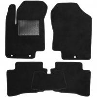 Коврики в салон для Hyundai i-20 '08-14, текстильные, черные (Optimal)