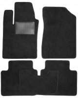 Коврики в салон для Hyundai Sonata '05-10, текстильные, черные (Optimal)