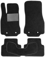 Коврики в салон для Jaguar XF '09-15, текстильные, черные (Optimal)