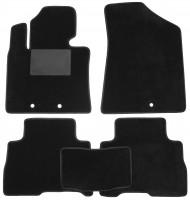 Коврики в салон для Kia Sorento 2013 - 2015, текстильные, черные (Optimal)