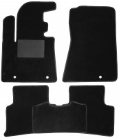 Коврики в салон для Kia Sportage 2016 -, текстильные, черные (Optimal)