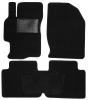 Коврики в салон для Mazda 6 '08-12, текстильные, черные (Optimal)