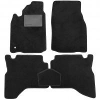 Коврики в салон для Mitsubishi Pajero Sport '98-08, текстильные, черные (Optimal)