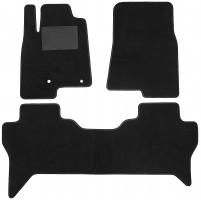 Коврики в салон для Mitsubishi Pajero Wagon 4 '07-, текстильные, черные (Optimal)