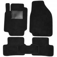 Коврики в салон для Nissan Micra '03-10, текстильные, черные (Optimal)
