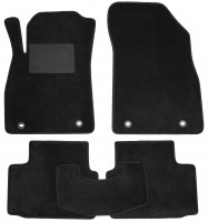 Коврики в салон для Opel Insignia '09-17, текстильные, черные (Optimal)