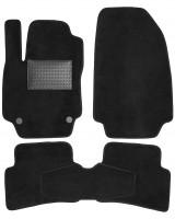 Textile-Pro Килимки в салон для Renault Clio IV '13-, хетчбек, текстильні, чорні (Optimal)