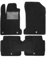 Коврики в салон для Renault Latitude '10-15, текстильные, черные (Optimal)
