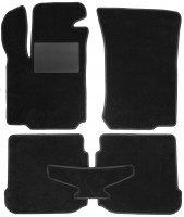 Коврики в салон для Skoda Octavia '97-09, текстильные, черные (Optimal)