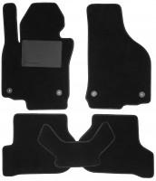 Коврики в салон для Volkswagen Golf VI '09-12, текстильные, черные (Optimal)