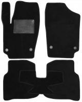 Коврики в салон для Volkswagen Polo '10- седан, текстильные, черные (Optimal)