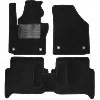 Коврики в салон для Volkswagen Touran '03-15, текстильные, черные (Optimal)