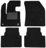 Коврики в салон для Citroen C5 Aircross '17-, текстильные, черные (Optimal)