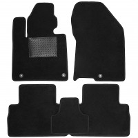 Коврики в салон для Hyundai Santa Fe '18-, текстильные, черные (Optimal)