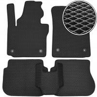 Коврики в салон для Volkswagen Caddy '04-15, 3 дв. EVA-полимерные, черные (Kinetic)