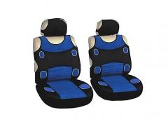 Авточехлы (майки) для переднего сидения синие Prestige