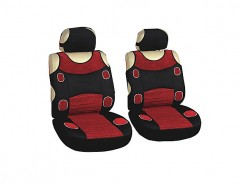 Авточехлы (майки) для переднего сидения красные Prestige