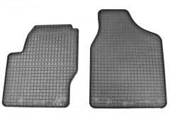 Коврики в салон для Volkswagen Sharan '01-10 резиновые, черные (Petex) передние