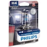 Автомобильная лампа Philips RacingVision +150% H4 12V 60/55W (1 шт.) 12342RVB1