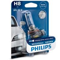Автомобильная лампа Philips WhiteVision H8 12V 35W (1 шт.) 12360WHVB1