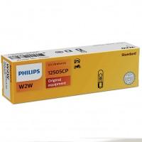 Автомобильная лампа Philips Standart W2W 2V 12W W2x4,6d (1 шт.) 12505CP