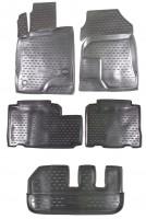 Коврики в салон для Chevrolet Captiva '06- полиуретановые, черные (Novline / Element) с лентяйкой