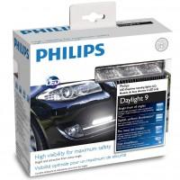 Дневные ходовые огни универсальные Philips Daylight 9 LED 12V 2x7.9W (комплект 2 шт.)12831WLED