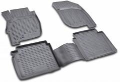 Коврики в салон для Mitsubishi Galant '04-12 полиуретановые, черные (Novline / Element)