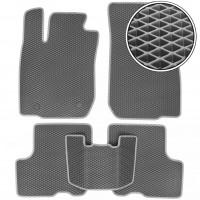 Коврики в салон для Dacia Logan '04-12, EVA-полимерные, серые (Kinetic)