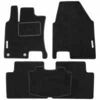 Фото 1 - Коврики в салон для Nissan Qashqai +2 '06-14 текстильные, черные (Стандарт)