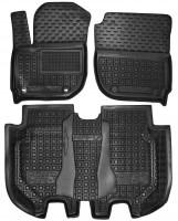Коврики в салон для Honda HR-V '15-, резиновые, черные (AVTO-Gumm)