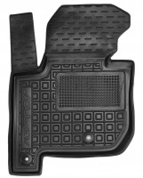 Коврик в салон водительский для Kia Soul '14-, электро. двиг., резиновый, черный (AVTO-Gumm)