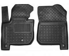 Коврики в салон передние для Kia Soul '14-, электро. двиг., резиновые, черные (AVTO-Gumm)